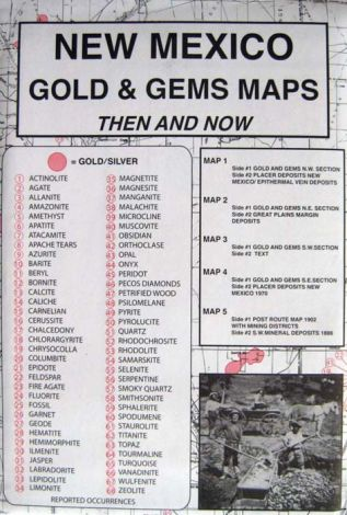 New Mexico Gold & Gems Maps