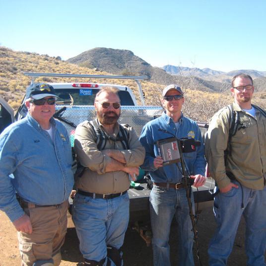 Four men in Arizona Desert